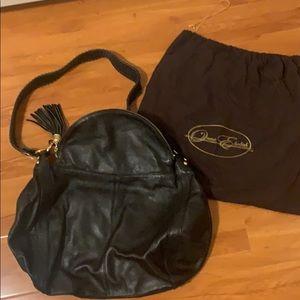 Onna Ehrlich Rachel Black Leather Hobo Bag